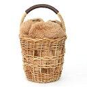 ☆ エコ ファー 巾着付き カゴ バック Eco Fur Basket Bag(Liala) 全2色 【1】