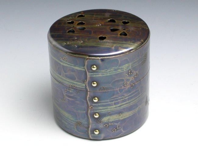 手作り銅器 茶筒 風紋 八半 茶器 【工芸ギフト】
