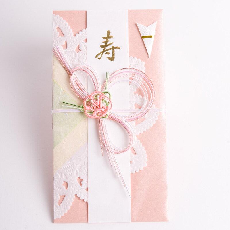 お祝儀袋 ご祝儀袋 洋風ピンク スリムタイプ 結婚式用【RCP】...:orora:10004644