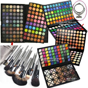 Set 120 colors of lucky bag 2013 pro specifications eye shadow palettes, lip, teak, コンシーラー, 18 brushes with the storing case, and stand; mirror MEP-120set02