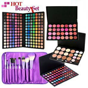 Pro spec makeup brush set / 168 color eyeshadow palette, lip, teak, Concealer, storage case, 9 brush set, standing mirror MEP-168set01 10P28oct13