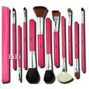 11本メイクブラシセット、化粧筆セット、化粧ブラシセット、ブラシケース付き STZ-1102