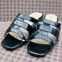 【靴】レディース チュールサンダル 黒...