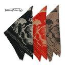 Johnson Motors【 ジョンソン・モーターズ 】『 1938SKULLS BANDANA 』MMBN 30911 BANDANA (大判・バンダナ)color【 BLACK 】ブラックcolor【 RED 】レッドcolor【 CAMEL 】キャメル