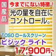 調光 ロールスクリーン ロールカーテン ボーダー 低価格 TOSO VISIC ライト 幅1210〜1600mm 高さ1610〜2000mm 高級 価格A ロール スクリーン P23Jan16