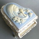 ピアノ型カメオ付き宝石箱(女性) ブルー ♪ノクターン アンチモニーオルゴール【オルゴールギフト】 プレゼント