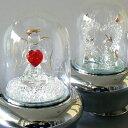 光ドームオルゴール(ハート2種類) 回転しながら光り