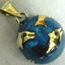 【特価&無料特典付き】★ ブルー イルカ 20ミリペンダントトップ【ヒーリングボール ( オルゴールボール ハーモニーボール とも呼ばれています )】 プレゼント