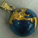 【特価&無料特典付き】★ブルー 地球 20ミリペンダントトップ【ヒーリングボール ( オルゴールボール ハーモニーボール とも呼ばれています )】 プレゼント