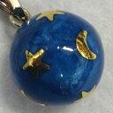 【特価&無料特典付き】★ブルー 月星 20ミリペンダントトップ【ヒーリングボール ( オルゴールボール ハーモニーボール とも呼ばれています )】 プレゼント