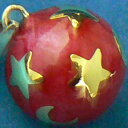 【特価&無料特典付き】★赤 月星 20ミリペンダントトップ 【ヒーリングボール ( オルゴールボール ハーモニーボール とも呼ばれています )】 プレゼント