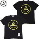 ショッピングスマイル アナーク ANARC smile TEE(ブラック 黒 BLACK/YELLOW)アナークTシャツ ANARCTシャツ アナーク半袖 ANARC半袖 ロゴ LOGO