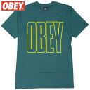 オベイ OBEY OBEY WORLDWIDE LINE BASIC TEES(TEAL)オベイTシャツ OBEYTシャツ オベイ半袖 OBEY半袖
