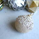 ビーズとラメがキラキラ光るボール型オーナメント クリスマス ...