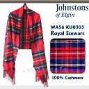 ジョンストンズ WA000056 KU0303 CashmereTartans/RoyalStewart (190×70cm)【 大判カシミアストール】【smt...