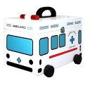 キュアメイト 救急車 木製救急箱 G-2343N(ホワイト)【救急箱】【送料区分B】 (6011990)