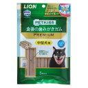 ライオン商事 PETKISS 食後の歯みがきガム プレミアム 中型犬用 5本【happiest】【SBT】(6041686)