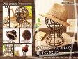 【送料無料】【あす楽】簡単組み立て式!!簡単便利な帽子スタンド ウイッグ 小物 鍵 サングラス メガネ 眼鏡 アクセサリー 通気性 ブラウン 日本製