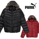 【送料無料】大きいサイズあり 小さいサイズあり PUMA プーマ メンズ ダウンジャケット 836082 男性 アウター フード付き 帽子 フェイクファー ジップアップ 長そで 長袖 防寒 フェザー ブラック レッド 黒 赤 無地 S M L XL XXL