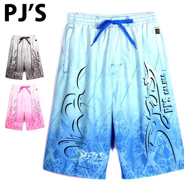 【メール便送料無料】あす楽 大きいサイズあり PJ'S メンズ水着 ピージェーズ 男性 紳士 海パン 海水パンツ サーフパンツ トランクス プール 水泳 海 グラデーション ブラック ブルー ピンク M L LL