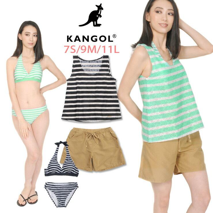 カンゴール(KANGOL)|KANGOL レディース用トップス付きビキニ水着4点セット 7S 9M 11L カンゴール 11810...