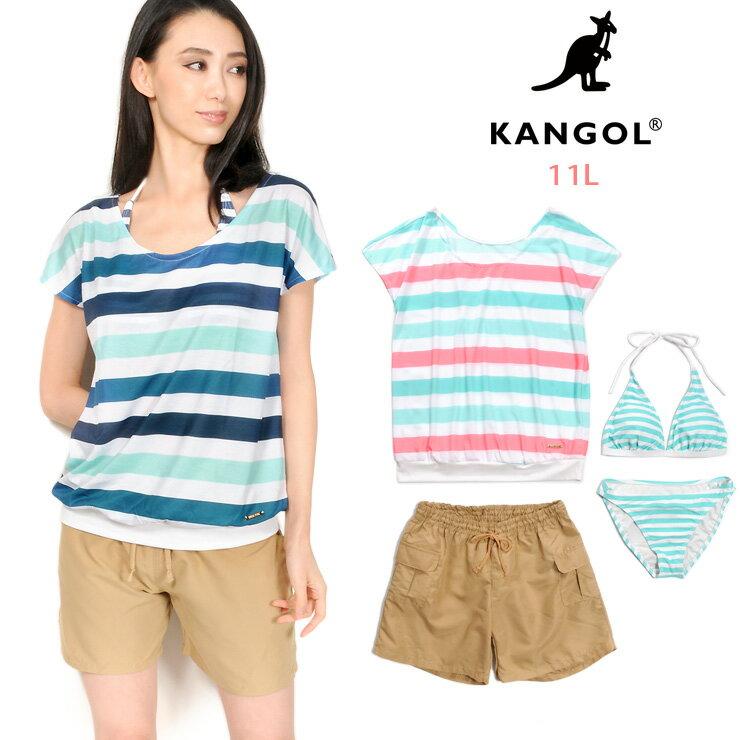 カンゴール(KANGOL)|KANGOL レディース用Tシャツ付きビキニ水着4点セット 11L カンゴール 128201 女性 ...