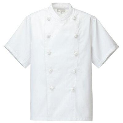 【お買得品】半袖コックコート SS〜6L 男女兼用 白衣、厨房着