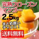 【日本で珍しい!カッチュー種】いつでも食べ頃!「完熟フローズンマンゴー」(ベトナム産冷凍カットマンゴー)2.5kg【送料無料】