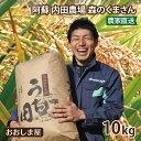 お米 内田農場 のお米 1袋 10kg 森のくまさん 阿蘇 熊本県産 米 白米 国産米 農家直送 送料無料 大嶌屋(おおしまや)