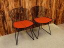 【新古品】 Knoll (ノル) Bertoia Side Chair W540 アームレスチェア ブラック 2脚セット 【Q0710-01】