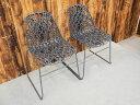 【新古品】 【展示品】 CRASSEVIG (クラスヴィッグ) Nett Armless Chair / W540 アームレスチェア グレー 2脚セット 【S0711-01】