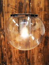 【中古】 OLUCE (オルーチェ) The Globe 828 / H900 ペンダントライト コードカスタム クリア 電球付 【T0713-01】