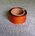 ホログラム メッキテープ オレンジ 約50mmチア ポンポン...