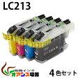 プリンターインク brother(ブラザー)互換インクカートリッジ LC213-4PK 4色パック 【ICチップ付(残量表示機能付)】(関連商品 LC213-4PK LC213 LC213BK LC213M LC213Y)qq