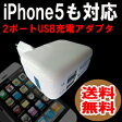 送料無料 ( 相性保証付 NO:A-A-13 ) ipad使用可定格出力1A 2.1A 2ポートUSB充電アダプタ ( iphone6 iphone4s 4 ipad ipod対応 ) ( 関連:DOCK Lightning 8ピンコネクタ ドッグコネクタ lightning ケーブル 充電USBケーブル 30ピンコネクタ 変換 ) qq