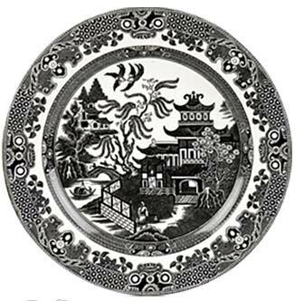 イギリス食器 バーレイ社 ブラックウィロー プレート 19cm お皿/花柄/料理/おしゃれ/かわいい