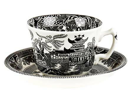 イギリス食器 バーレイ社 ブラックウィロー ティーカップ&ソーサー 花柄/おしゃれ/かわいい/おすすめ/ギフトセット