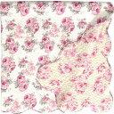 ルーシーローズ柄 キルト マルチカバー Lサイズ(190cm)正方形 綿100%/バラ雑貨