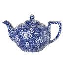 英国食器バーレイ社 バーレイ ブルーキャリコ ティーポットL 1.0L イギリス/おしゃれ/紅茶/陶器/calico/送料無料