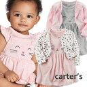 カーターズ Carter's ワンピース&カーディガン 2点セットアップ 正規品 ネコ、くま 6m-24m