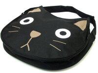 お買い得★ショルダーバッグ手提げカバン肩掛けななめ掛けシャロンネコ顔型黒猫かわいい人気レディース薔薇雑貨のおしゃれ姫