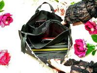 インナーバッグバッグインバッグ整理ポーチかわいい水玉ブラックピンク小物入れサニタリーコスメレース薔薇雑貨のおしゃれ姫