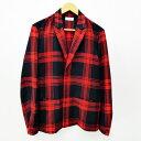 【中古】TOMORROWLAND/トゥモローランド チェックジャケット サイズ:M カラー:レッド×ブラック / セレクト【f091】