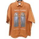 【中古】SHAREEF/シャリーフ STUDIOUS別注 TWINS S/S BIG SHIRTS半袖シャツ サイズ:1 カラー:オレンジ系【f104】