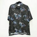【中古】STUDIOUS ステュディオス 109302017 'NEWダークフラワービッグシルエットSSシャツ' 19SS シャツ半袖 サイズ:2 カラー:ブラック / ドメス【f104】