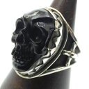 ショッピングダウニー 【中古】LEE DOWNEY リーダウニー 'Large Skull Ring(JET)' LER-0004 シルバーリング サイズ:23 カラー:シルバー【f134】