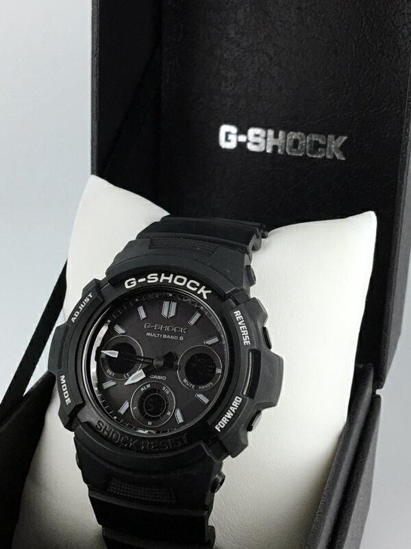 【】CASIO/カシオ G-SHOCK/Gショック Garish Black(ガリッシュブラック) 腕時計 AWG-M100BW クォーツ タフソーラー 樹脂バンド 【20170303★値下げ】