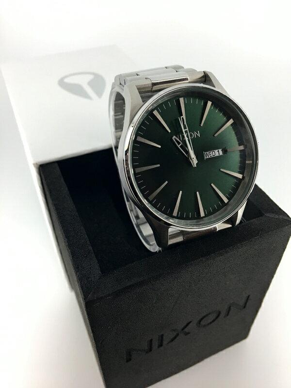 【】NIXON / ニクソン THE SENTRY SS(セントリー)腕時計 A356-1696 Green Sunrayクォーツ ステンレススティールベルト10P03Dec16 【20170303★値下げ】