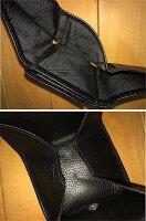 【中古】LONGCHAMP/ロンシャン三つ折り財布/コンパクトウォレットカラー:ブラック系