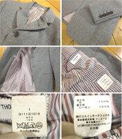 【中古】THOMBROWNE.NEWYORK/トムブラウンウールジャケットサイズ:1カラー:グレー